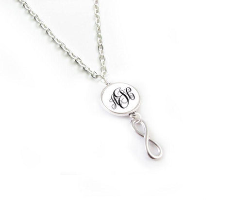 Infinity Monogram Necklace, Infinity Earrings, Personalized Earrings - Jewelrylized  - 1