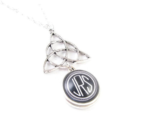Celtic Monogram Necklace, Personalized Pendant