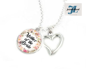 Mother of Bride Heart Necklace | Photo Jewelry - Jewelrylized.com