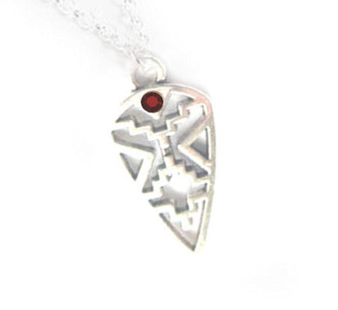 Silver Native American Style Birthstone Crystal Necklace - Jewelrylized.com