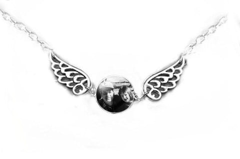 Father Daughter Son Angel Wing Necklace - Jewelrylized.com