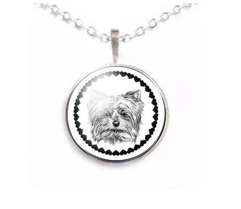 Dog Yorkie Necklace - Jewelrylized