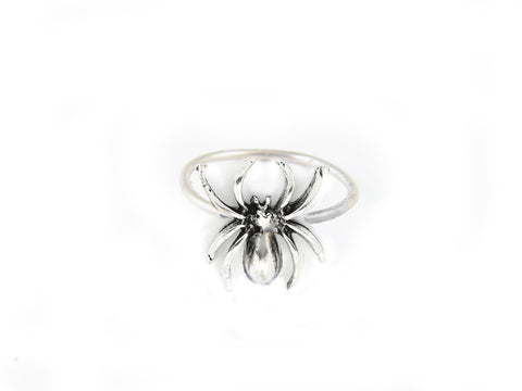 Spider Antiqued Silver Handmade Ring, Jewelrylized