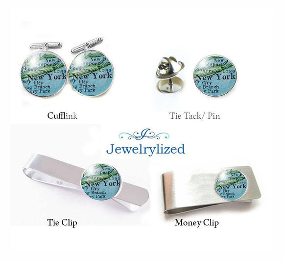 New York City Cufflinks, Tie Clip, Money Clip - Jewelrylized.com