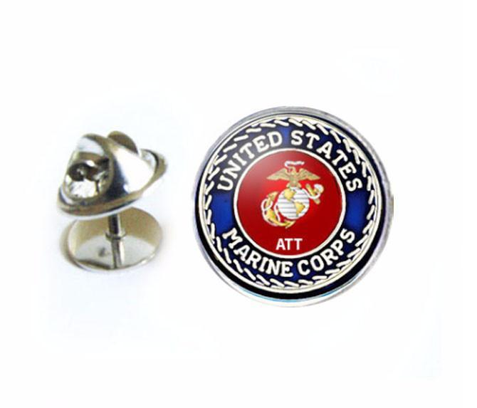 US Marine Corps Tie Tack, Military Lapel Pin, Personalized Initials Tie Tack - Jewelrylized  - 1