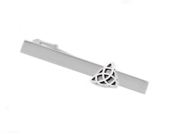 Triquetra Celtic Knot Tie Bar, Tie clip - Jewelrylized  - 1