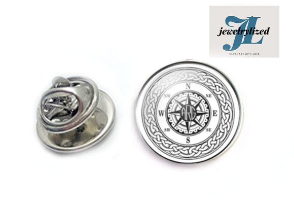 Compass Celtic Tie Tack Pin - Jewelrylized.com