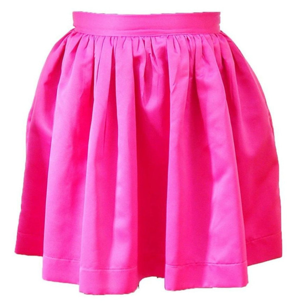 Hot Pink Matte Satin Anne Skirt