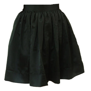 Black Matte Satin Anne Skirt