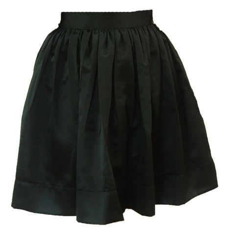 Black Matte Satin Anne Skirt- Knee Length, Midi or Ballgown