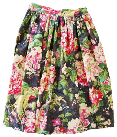 Grey Gardens Floral Skirt - Above Knee Length, Midi, Maxi