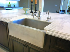 Custom Farmhouse in Brushed Nickel Installed