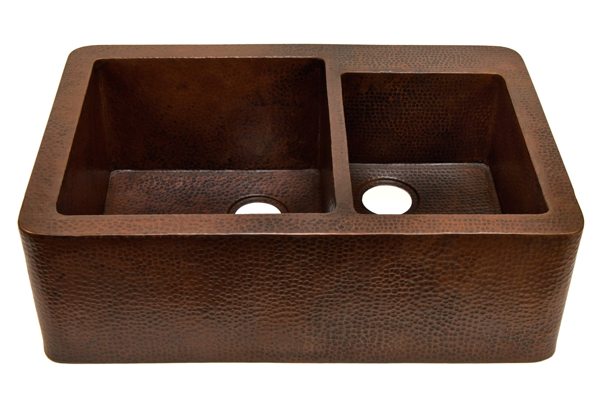 Farmhouse with Curved Apron Kitchen Copper Sink Single Basin