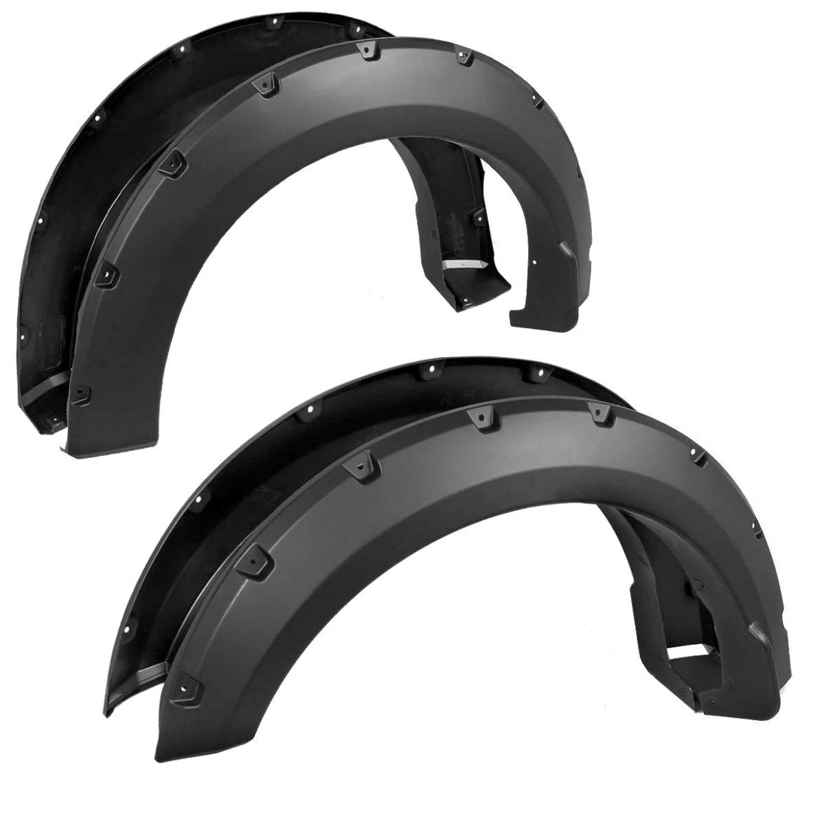 Paintable Black 04-08 Ford F150 Bolt On OE Fender Flares Smooth Finish