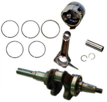 HONDA GX340 ROLLER KIT WITH CRANKSHAFT PISTON RINGS CON ROD PIN AND CLIPS GX 390