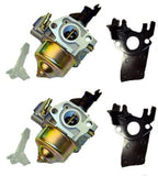 Two New Honda GX340 GX390 11HP 13HP Carburetor with Carburetor Insulator - AE-Power