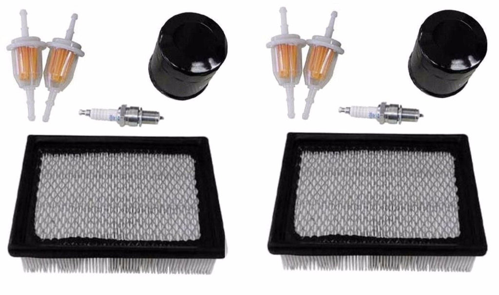 2 Club Car DS Golf Cart Tune-Up Kits 1992 & Up Air Oil Inline Fuel Filters NEW