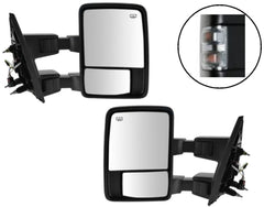Clear Power Tow Mirrors Passenger Driver Side Towing Signal Heated Left Right - AE-Power