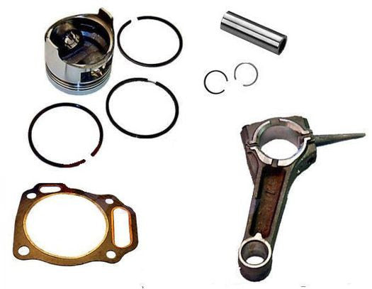 Honda GX340 11hp PISTON & RING PIN & CLIPS WITH CONNECTING ROD  FREE HEAD GASKET