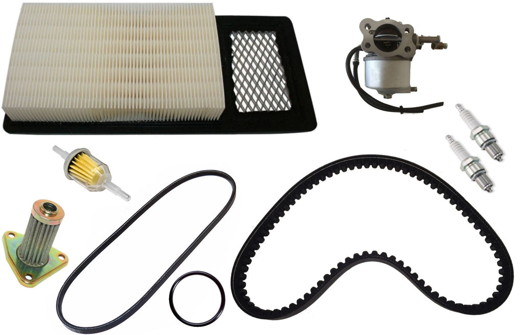 4 Cycle Gas Golf Cart Tune Up Kit Medalist E-Z-GO TXT Carburetor Filters Drive Starter Belt
