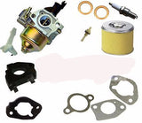 Honda GX200 Carburetor Gaskets Air Filter Spark Plug Petcock Spacer For 6.5HP