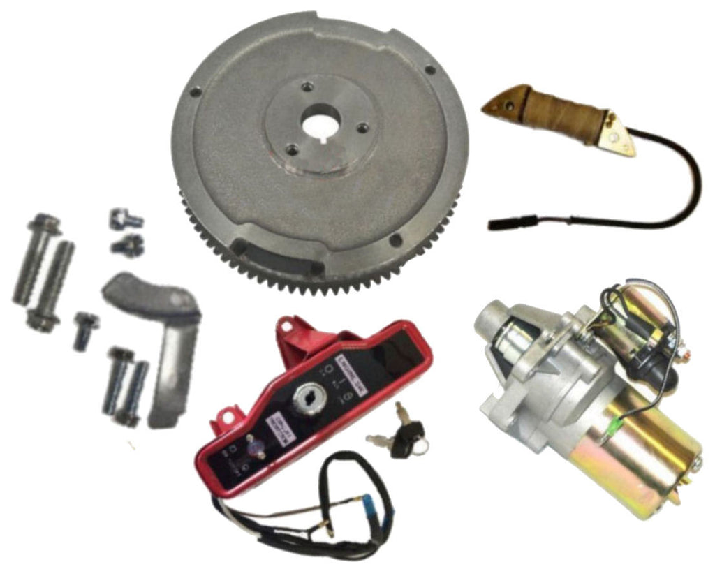 New Honda GX240 8hp 9hp Electric Start Kit Starter Motor Flywheel on/off Switch