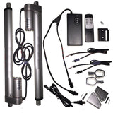 "2 Linear Actuators 22"" inch Stroke 12V 110V Power Supply With Remote Bracket Set - AE-Power"