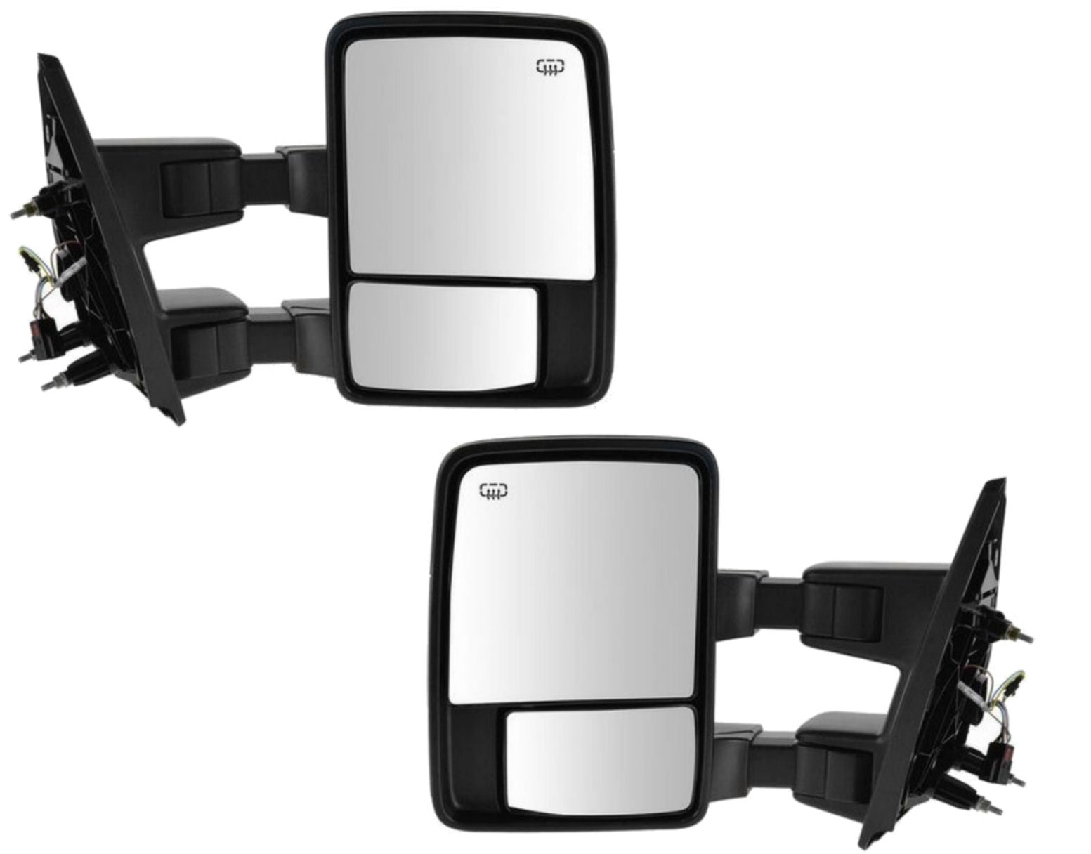 Side Manual Towing Mirrors Tow Pair Driver Passenger Left Right Super Duty New - AE-Power