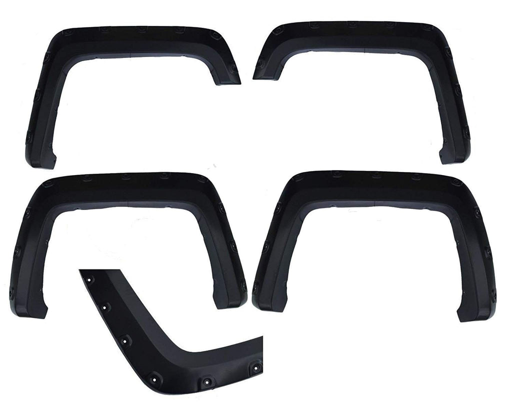 14-15 Silverado 1500 Fender Flares 2500 3500 Heavy Duty Black Pocket Style