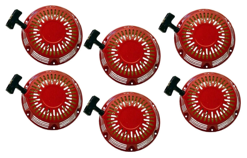 6 Pack Pull Start Red Recoil Covers Honda GX340 & GX390 11Hp 13Hp Set Packs New