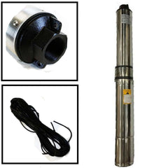 "Deep Well Submersible Pump, 4"" 1/2 HP, 220V, 25 GPM, 150 ft Max, long life - AE-Power"