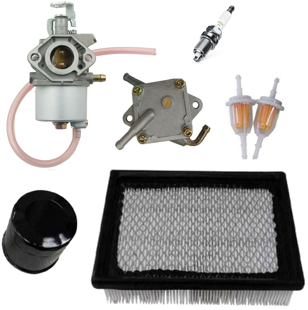 Club Car DS Gas Golf Cart Tune-Up Kit 1992 & Up Carburetor Air Oil Inline Filter Fuel Pump
