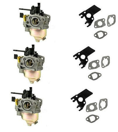 New 3 Pack GX200 Honda Adjustable Carburetor With Free Gaskets & Insulator
