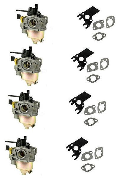 New 4 Pack GX200 Honda Adjustable Carburetor With Free Gaskets & Insulator