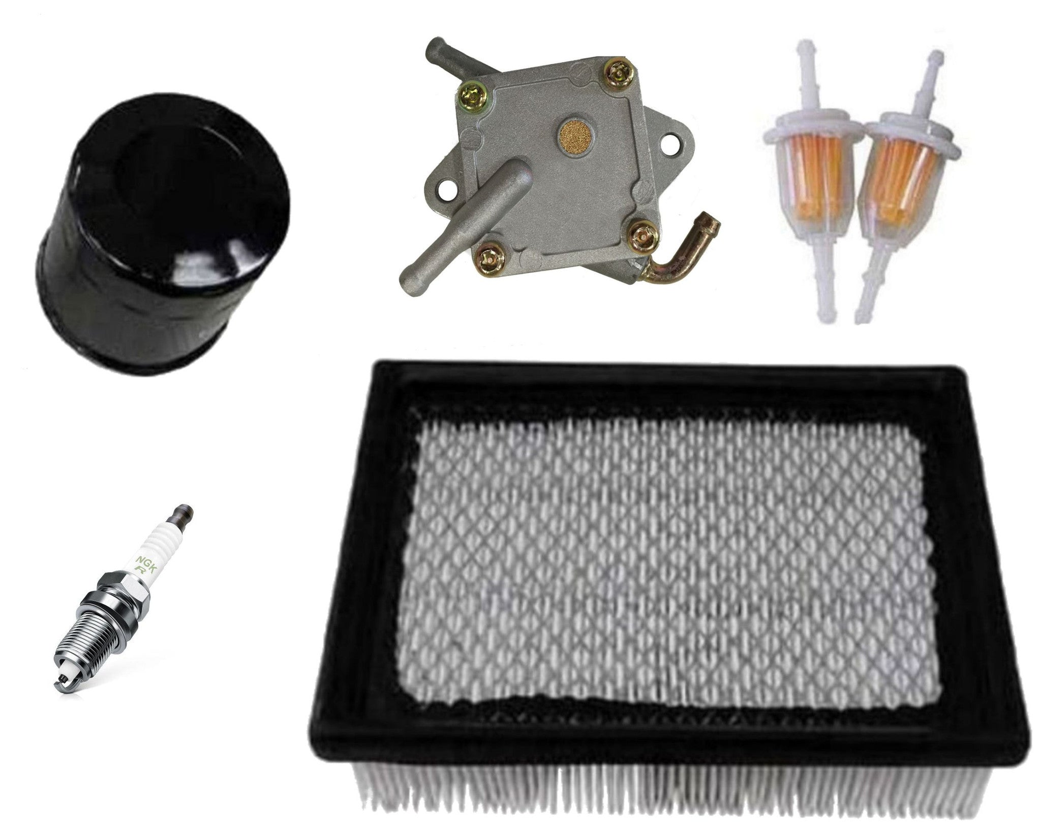 Golf Cart Tune Up Kit with Fuel Pump Club Car DS 1992 & Up Air Oil Inline Filter Spark
