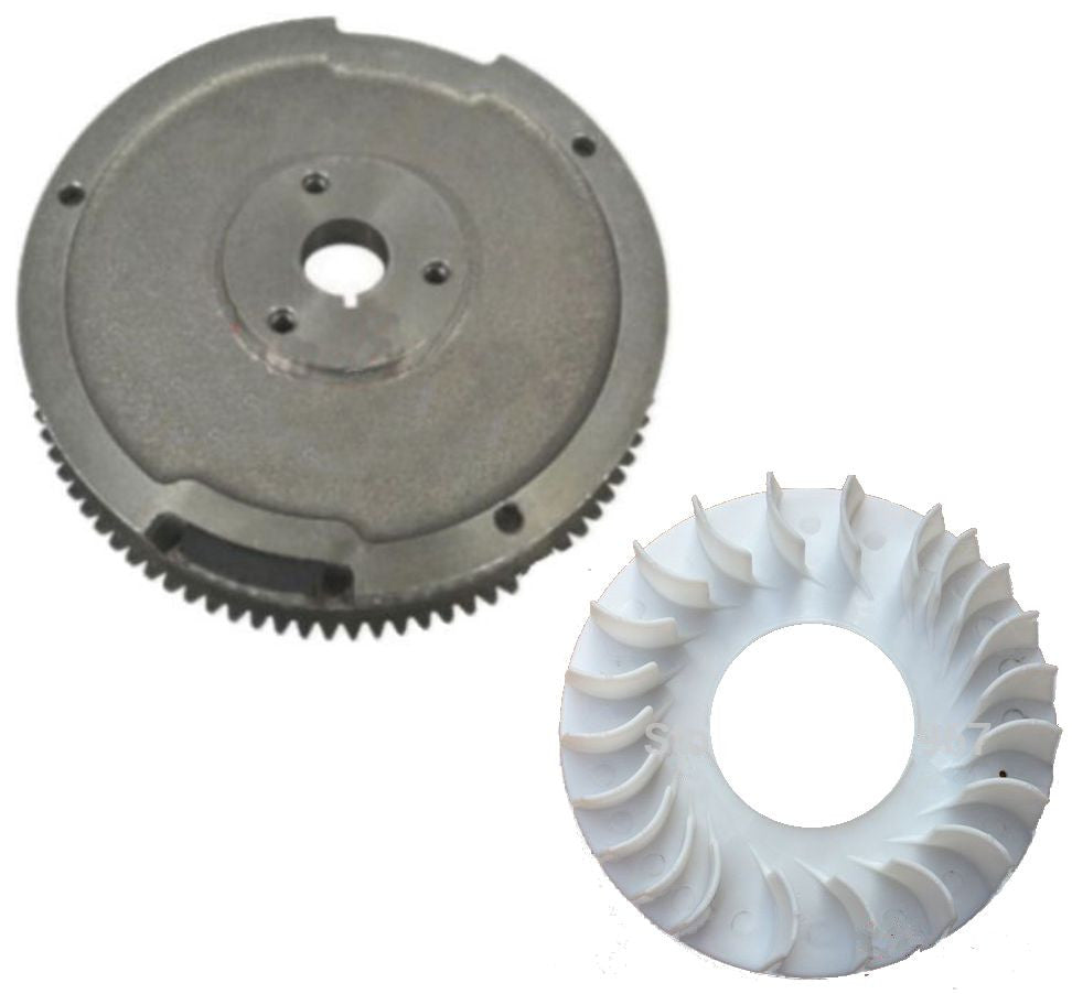 NEW Electric Start Flywheel with Drive Gear and Fan FITS Honda GX620 20HP V Twin - AE-Power