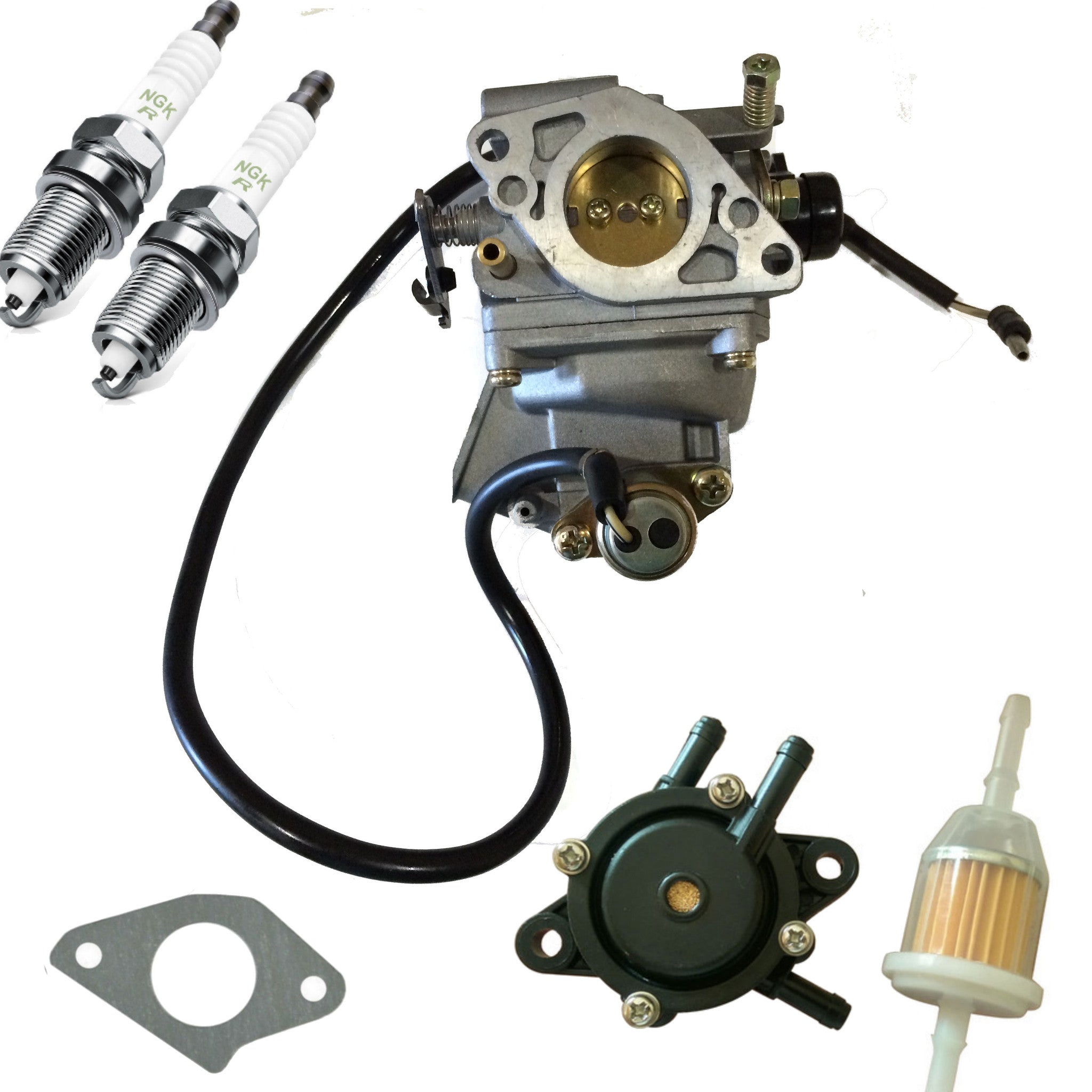 Carburetor Carb for Honda w Fuel Pump Filter Plugs GX620 Gx610 Mower Gas Engine - AE-Power
