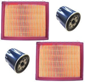 2 NEW Air Filters Cleaners and Oil Filters FITS Honda GX620 20 HP V Twin