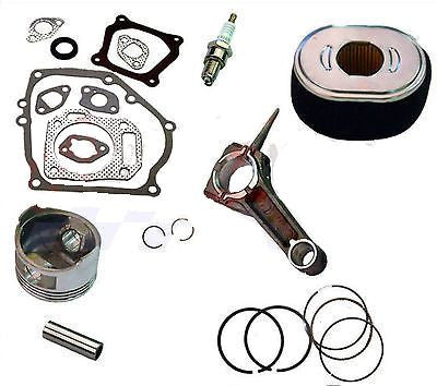 Honda GX340 11 Hp Engine Overhaul Kit Piston Rings Clips Air Filter Gasket Set