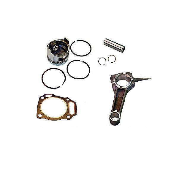Honda GX270 9hp PISTON & RING PIN & CLIPS WITH CONNECTING ROD  FREE HEAD GASKET
