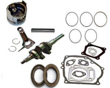 Fits Honda GX160 5.5hp PISTON & RING CONNECTING ROD CRANKSHAFT OIL SEALS GASKETS