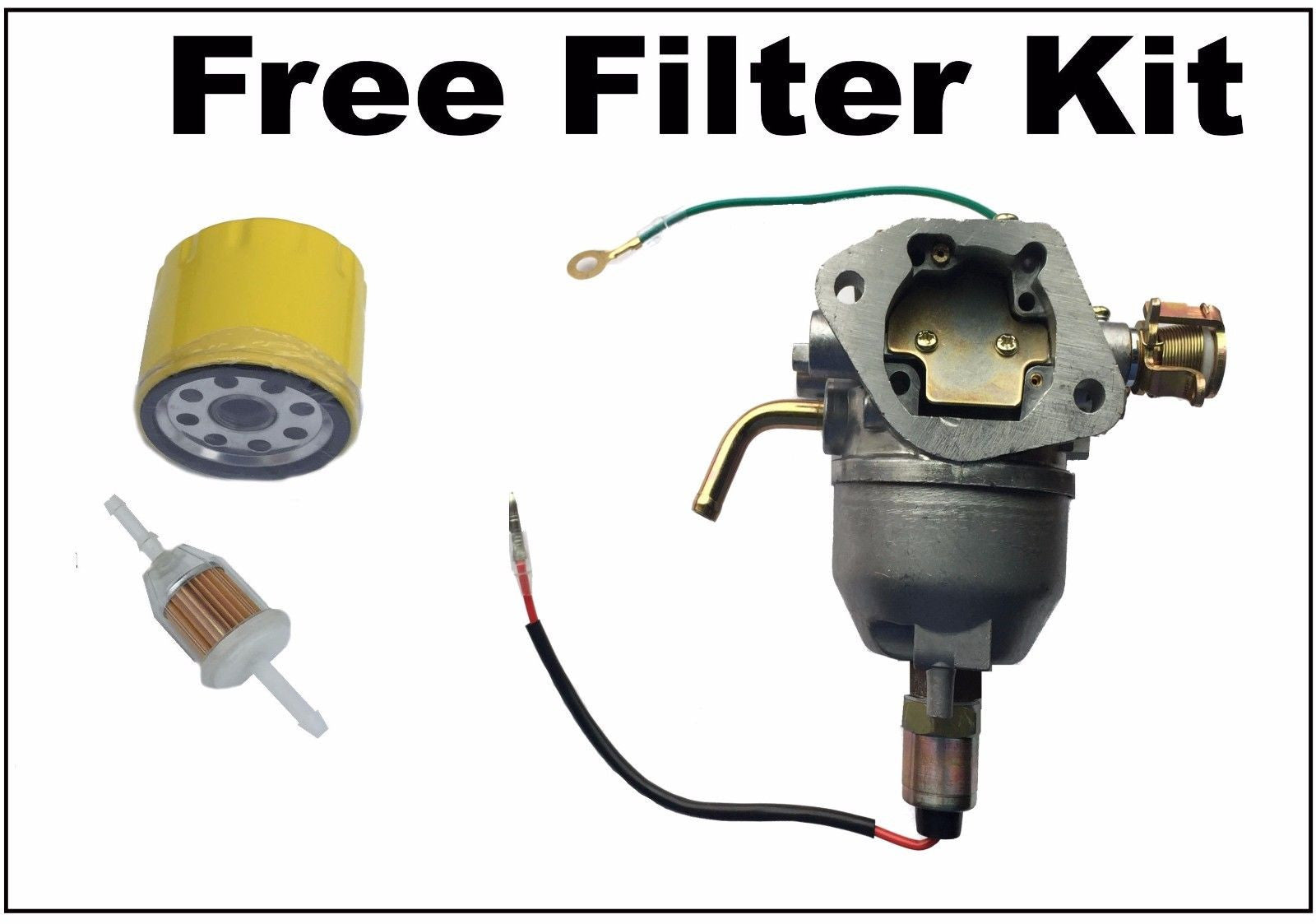 CARBURETOR FOR KOHLER KT SERIES DOME STYLE ENGINE CARB OIL FUEL FILTERS - AE-Power