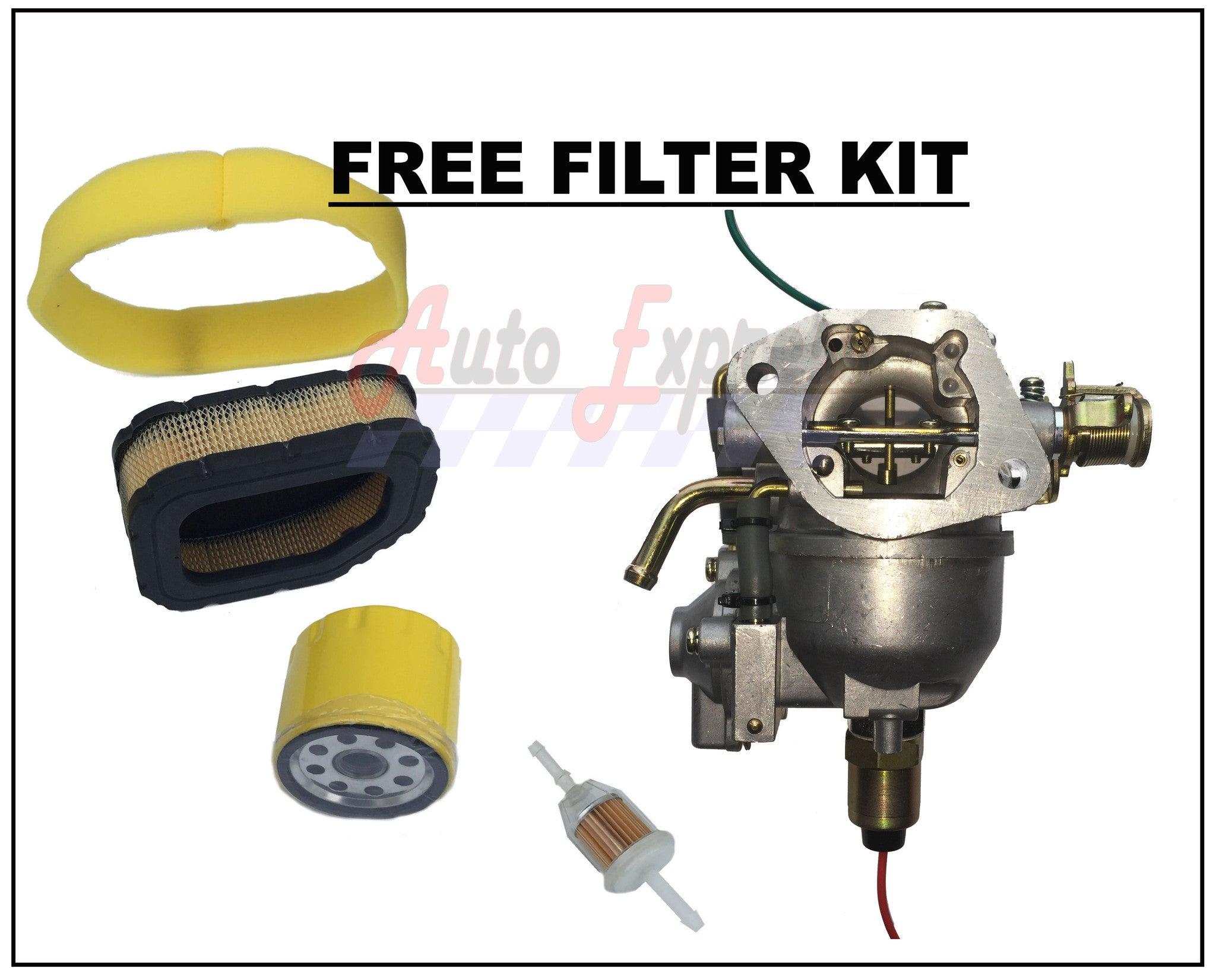 Carburetor for Kohler CV675 CV740 Nikki Carb Tune Up Kit Pump Filters - AE-Power