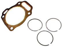 NEW HONDA PISTON RINGS RING SET AND CYLINDER HEAD GASKET GX200