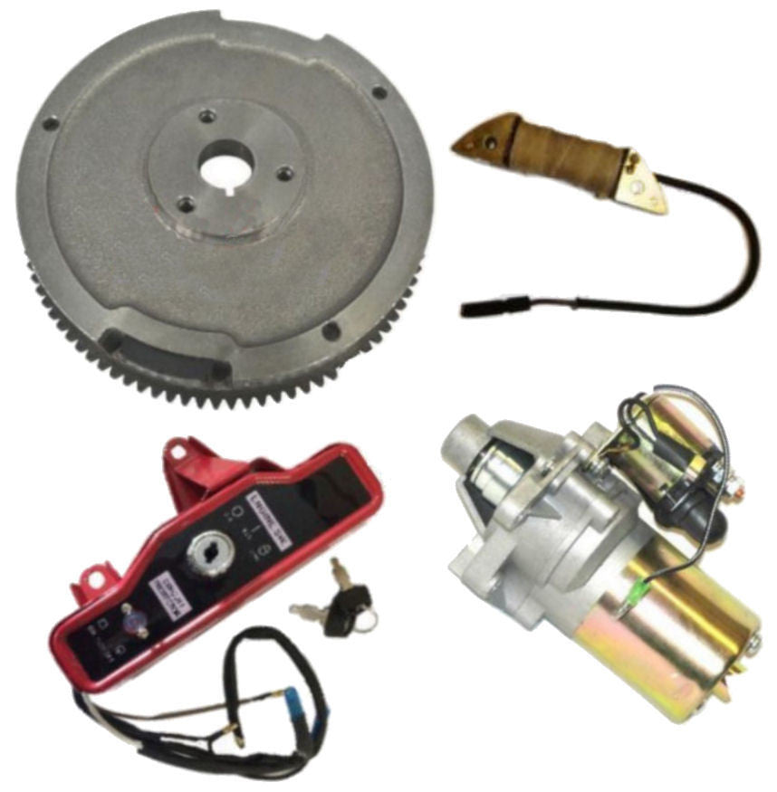 NEW HONDA GX160 5.5HP ELECTRIC START KIT STARTER MOTOR FLYWHEEL ON/OFF SWITCH