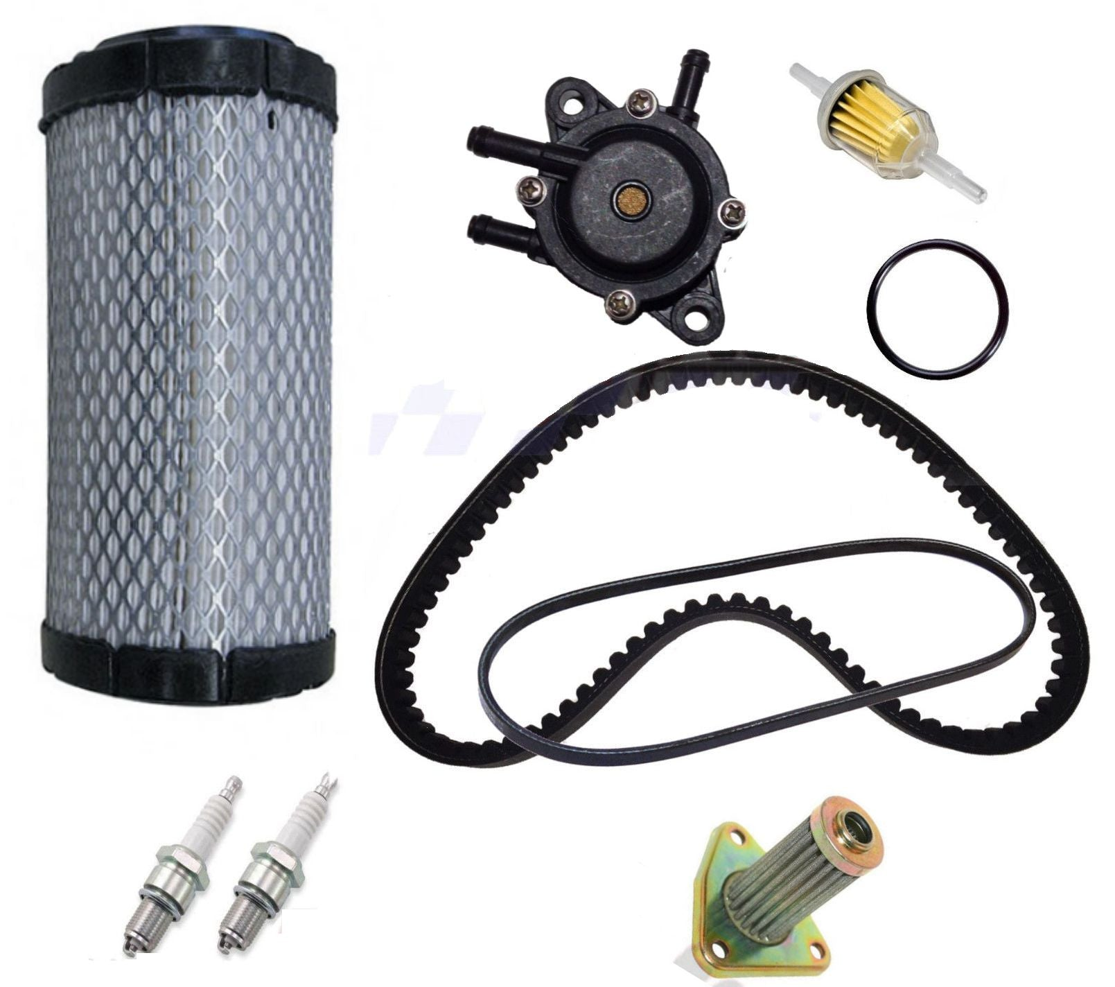 EZGO TXT ST350 Gas Golf Cart Tune Up Kit 96-up Fuel Pump Drive Starter Belt