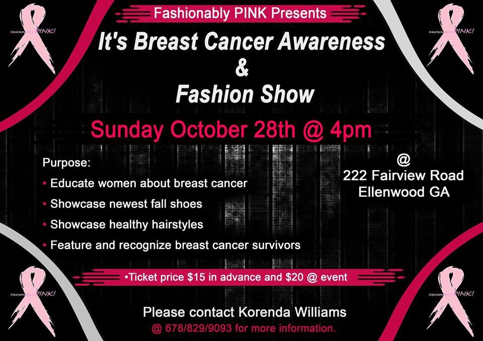Fashionably Pink Breast Cancer Awareness & Fashion Show