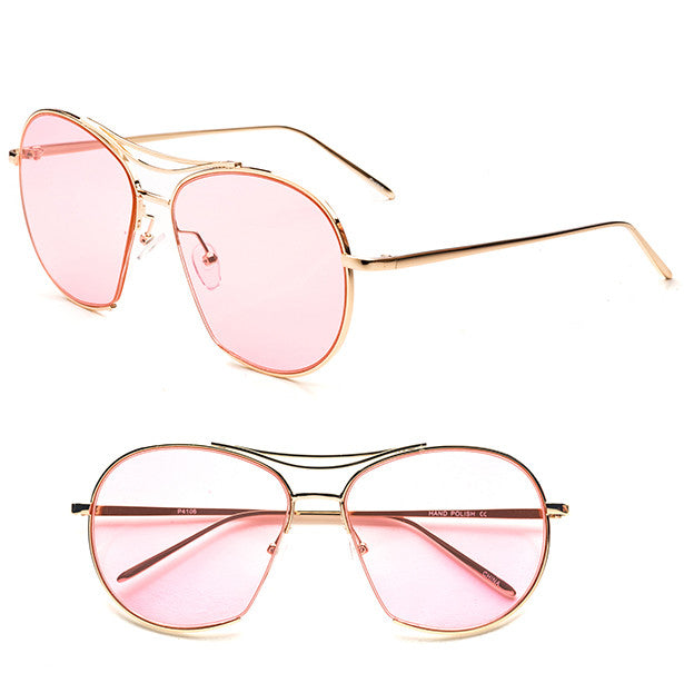 Pink Retro Aviator Sunglasses - Obsessive Shoe Addict