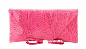 Fuchsia Fashion Clutch - Obsessive Shoe Addict