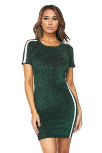 Game Day Green Glitter Dress - Obsessive Shoe Addict